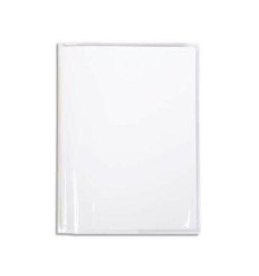 CALLIGRAPHE Protège-cahier Cristal transparent 12/100e 17 x 22 cm avec porte-étiquette