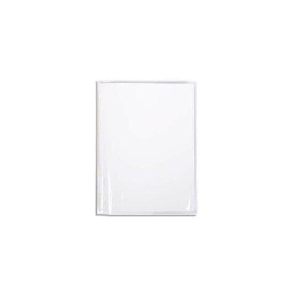 CALLIGRAPHE Protège-cahier Cristal transparent 12/100e 17 x 22 cm avec porte-étiquette (photo)