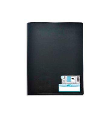 ELBA Protège-documents en polypropylène Memphis, 40 vues 20 pochettes, coloris noir