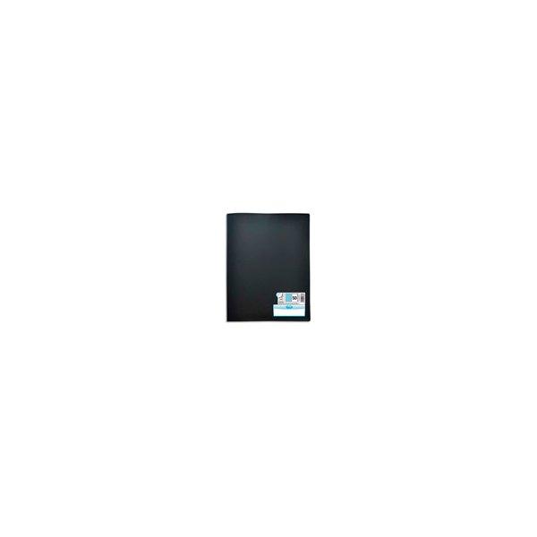 OXFORD Protège-documents en polypropylène Memphis 100 vues 50 pochettes, coloris noir