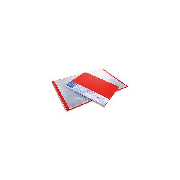 EXACOMPTA Protège-documents UP-LINE polypropylène, 20 pochette, 40 vues, rouge