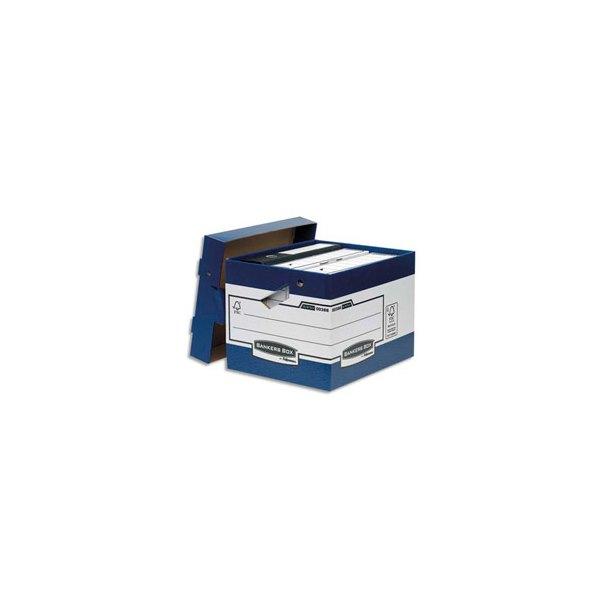 BANKERS BOX Caisse multi-usages ergonomique, montage automatique. Carton recyclé (photo)