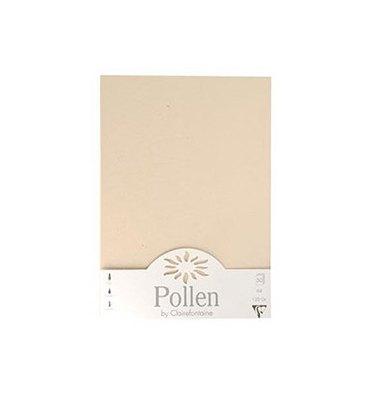 POLLEN BY CLAIREFONTAINE Etui de 50 feuilles 120g POLLEN A4. Coloris ivoire