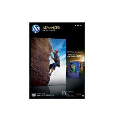 HP Boîte de 25 feuilles de papier photo brillant 250g A4