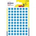 AVERY Sachet de 490 pastilles diamètre 8 mm. Ecriture manuelle. Coloris bleu