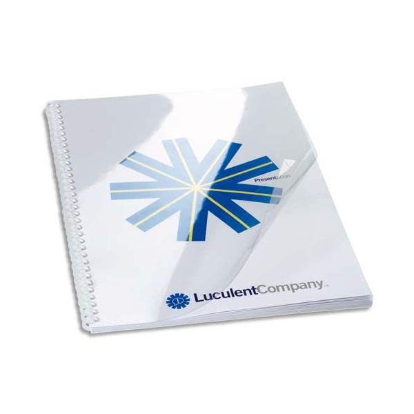 GBC Boîte de 100 Couvertures transparentes 150 microns incolore