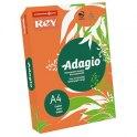 REY BY PAPYRUS Ramette 250 feuilles papier couleur ADAGIO+ copieur, laser,jet d'encre 160g format A4 orange intense
