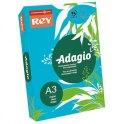 REY BY PAPYRUS Ramette de 250 feuilles papier couleur ADAGIO copieur, laser, jet d'encre 160g format A3 bleu vif