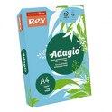 REY BY PAPYRUS Ramette de 250 feuilles papier couleur ADAGIO copieur, laser, jet d'encre 160g format A4 bleu vif