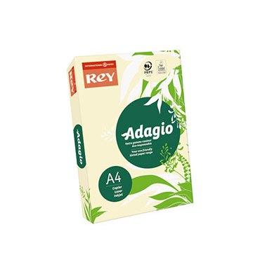 REY BY PAPYRUS Ramette de 250 feuilles papier couleur ADAGIO copieur, laser, jet d'encre 160g A4 ivoire