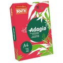 REY BY PAPYRUS Ramette 250 feuilles papier couleur ADAGIO+ copieur, laser, jet d'encre 160g format A4 rouge intense