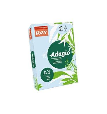 REY BY PAPYRUS Ramette de 500 feuilles papier couleur ADAGIO 80g A3 bleu
