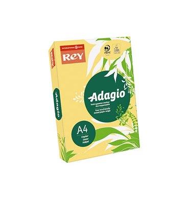 REY BY PAPYRUS Ramette 500 feuilles papier couleur ADAGIO copieur, laser, jet d'encre 80g A4 bouton d'or