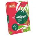 REY BY PAPYRUS Ramette de 500 feuilles papier couleur ADAGIO+ 80g A3 rouge intense
