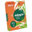 REY BY PAPYRUS Ramette 500 feuilles papier couleur ADAGIO+ 80g A3 orange intense