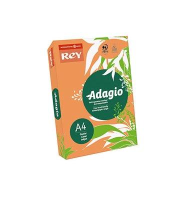 REY BY PAPYRUS Ramette de 500 feuilles papier couleur ADAGIO copieur, laser, jet d'encre 80g A4 fluo mandarine