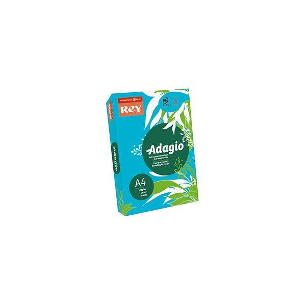 REY BY PAPYRUS Ramette de 500 feuilles papier couleur ADAGIO+ 80g A4 bleu intense