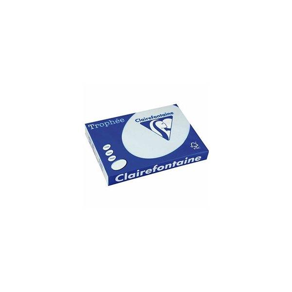 CLAIREFONTAINE Ramette de 500 feuilles papier couleur TROPHEE 80g format A3 bleu pastel