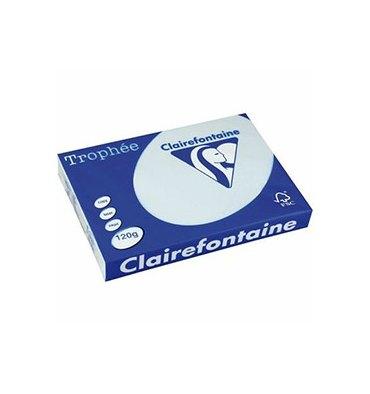 CLAIREFONTAINE Ramette de 500 feuilles papier couleur TROPHEE 80g A4 bleu