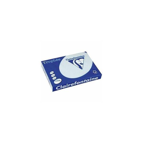 CLAIREFONTAINE Ramette de 500 feuilles papier couleur TROPHEE 80g A4 bleu pastel