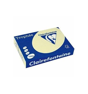 CLAIREFONTAINE Ramette de 500 feuilles papier couleur TROPHEE 80g A4 canari