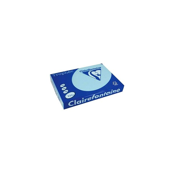 CLAIREFONTAINE Ramette de 500 feuilles papier couleur TROPHEE 80g A4 bleu alizé