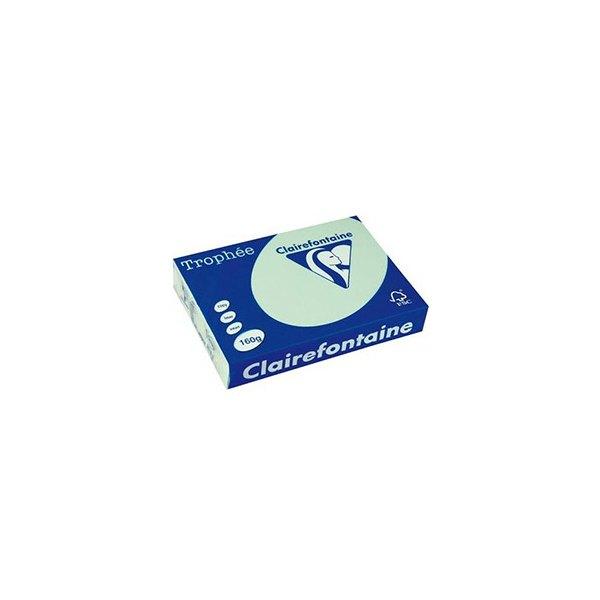 CLAIREFONTAINE Ramette de 250 feuilles papier couleur TROPHEE 160g A4 vert pastel