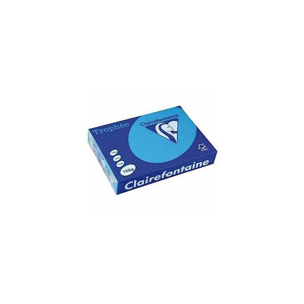 CLAIREFONTAINE Ramette de 500 feuilles papier couleur TROPHEE 80g A4 bleu turquoise
