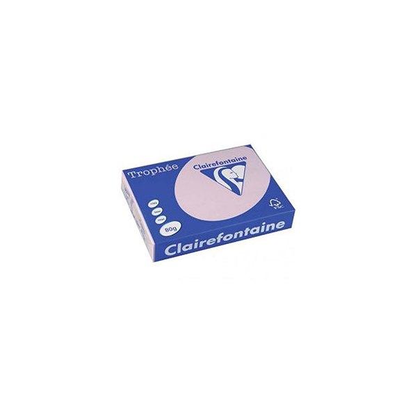 CLAIREFONTAINE Ramette de 500 feuilles papier couleur TROPHEE 80g A4 lilas