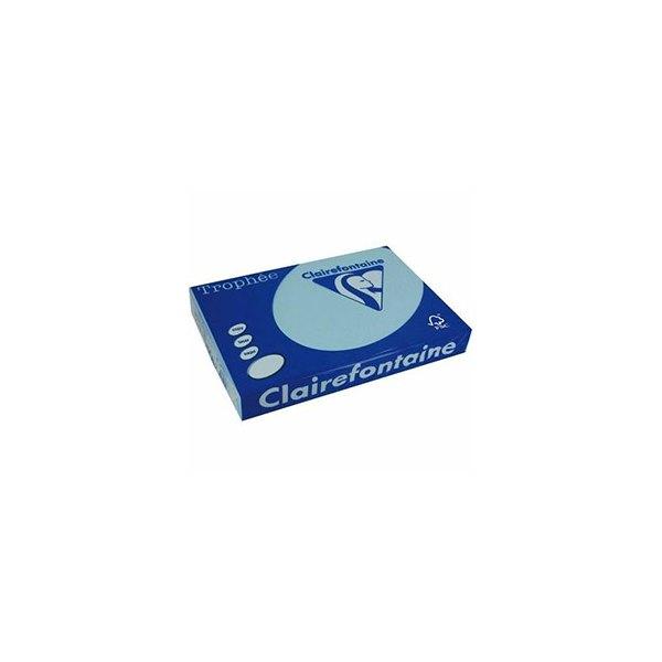 CLAIREFONTAINE Ramette de 500 feuilles papier couleur TROPHEE 80g A3 bleu alizé