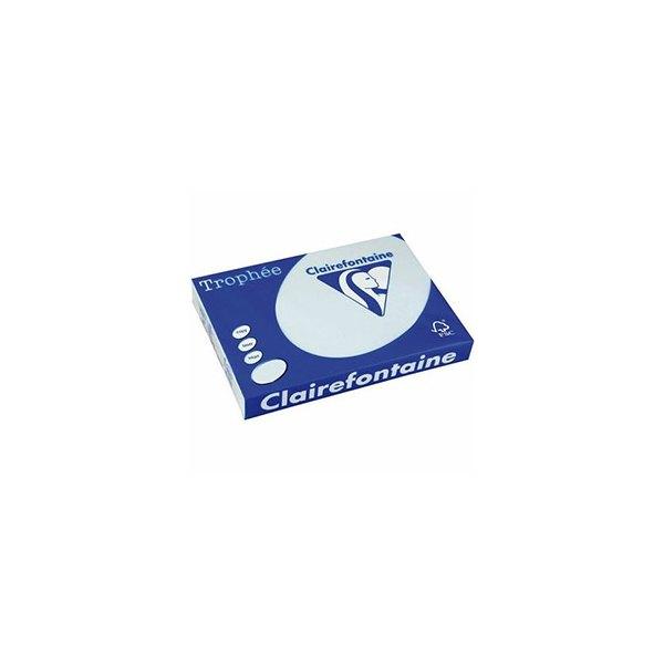 CLAIREFONTAINE Ramette de 250 feuilles papier couleur TROPHEE 160g A4 bleu pastel