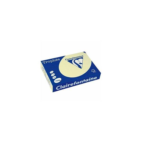CLAIREFONTAINE Ramette de 500 feuilles papier couleur TROPHEE 80g A3 canari pastel