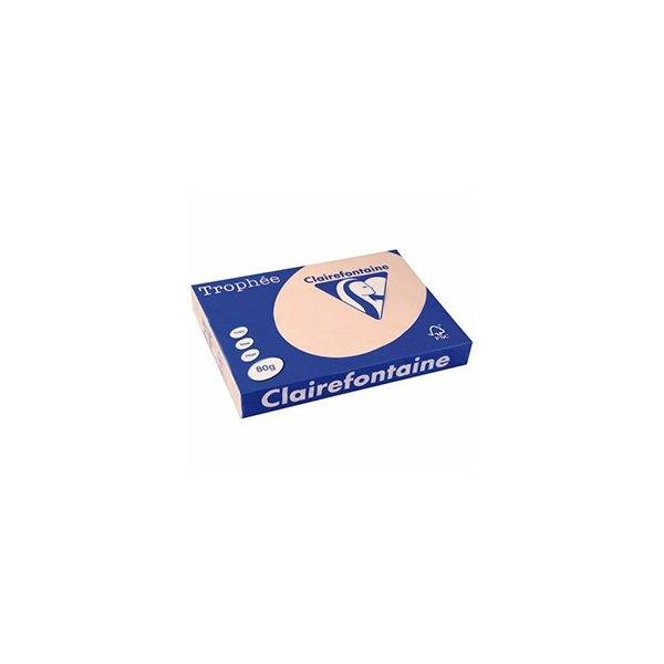 CLAIREFONTAINE Ramette de 500 feuilles papier couleur TROPHEE 80g A3 saumon pastel