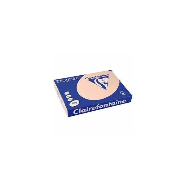 CLAIREFONTAINE Ramette de 500 feuilles papier couleur TROPHEE 80g A3 saumon