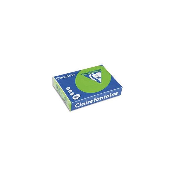 CLAIREFONTAINE Ramette de 500 feuilles papier couleur TROPHEE 80g A3 vert golf