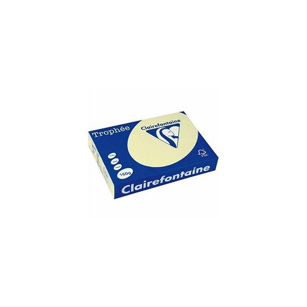 CLAIREFONTAINE Ramette de 250 feuilles papier couleur TROPHEE 160g A4 canari pastel
