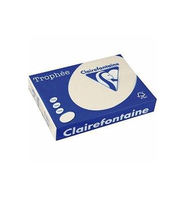 CLAIREFONTAINE Ramette de 500 feuilles papier couleur TROPHEE 80g A3 ivoire