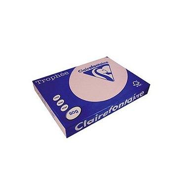 CLAIREFONTAINE Ramette de 500 feuilles papier couleur TROPHEE 80g A3 lilas