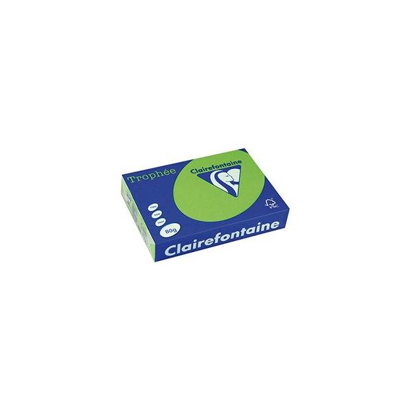CLAIREFONTAINE Ramette de 500 feuilles papier couleur TROPHEE 80g A3 vert menthe