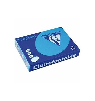 CLAIREFONTAINE Ramette de 500 feuilles papier couleur TROPHEE 80g A3 bleu turquoise