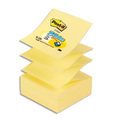 POST-IT Recharge Z-notes 90 feuilles 7,6 x 7,6 cm jaune