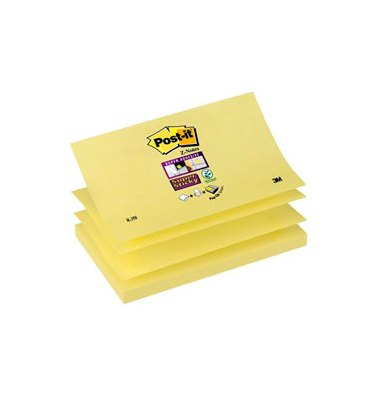 POST-IT Recharge Z-notes 90 feuilles 7,6 x 12,7 cm jaune
