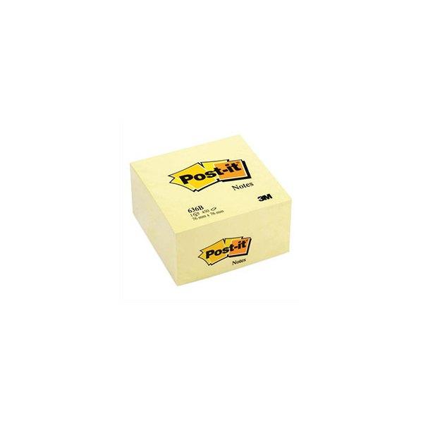 POST-IT Bloc cube 7,6 x 7,6 cm 450 feuilles jaune canari