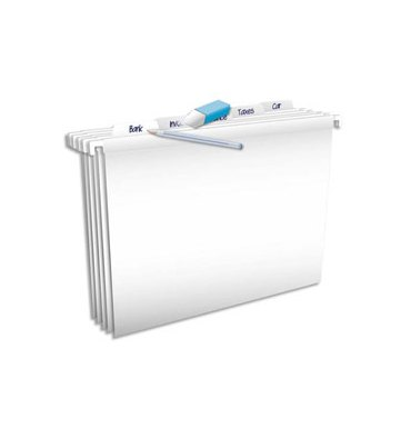 ELBA Paquet de 5 dossiers suspendus Pure File TIROIR en polypropylene opaque. Fond V. Blanc