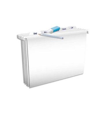 L'OBLIQUE AZ by ELBA Paquet de 5 dossiers suspendus Pure File TIROIR en polypropylène opaque. Fond V. Blanc