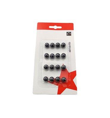 5 ETOILES Boîte de 16 aimants 9 mm ronds noir