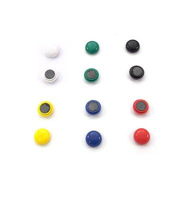 5 ETOILES Boîte de 12 aimants 15 mm ronds assortis
