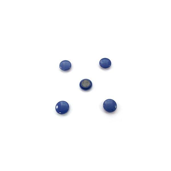5 ETOILES Boîte de 5 aimants 27 mm ronds bleu (photo)