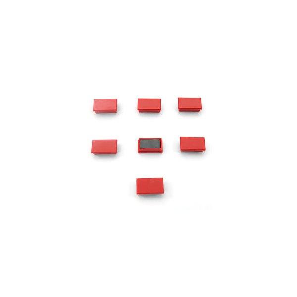 5 ETOILES Plaquette de 7 aimants rectangulaires 1,2 x 2,5 cm Rouge
