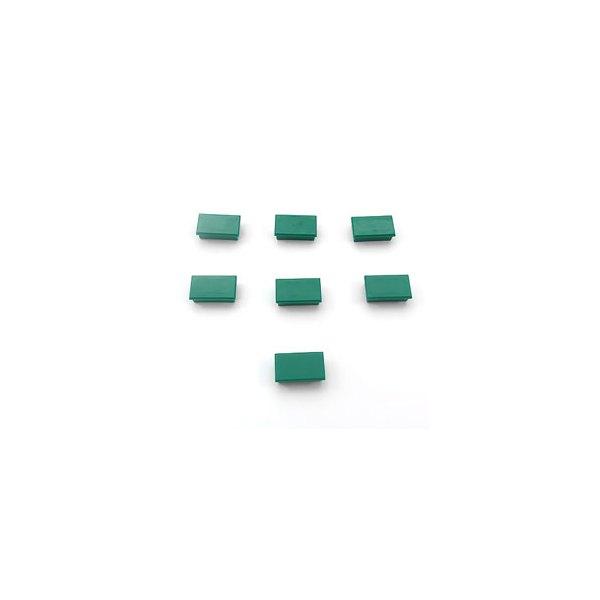 5 ETOILES Plaquette de 7 aimants rectangulaires 1,2 x 2,5 cm vert